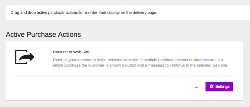 Using The Redirect to Website Purchase Action – DPD Help Desk